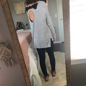 Sage Keyhole Back Sweater